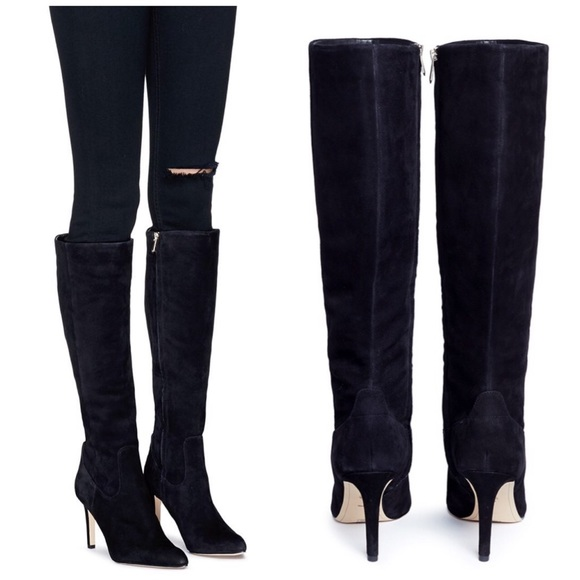 a3b5752f453 Sam Edelman Olencia Suede Leather Knee High Boots
